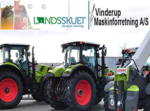 Vinderup Maskinforretning A / S an der National Show in Herning